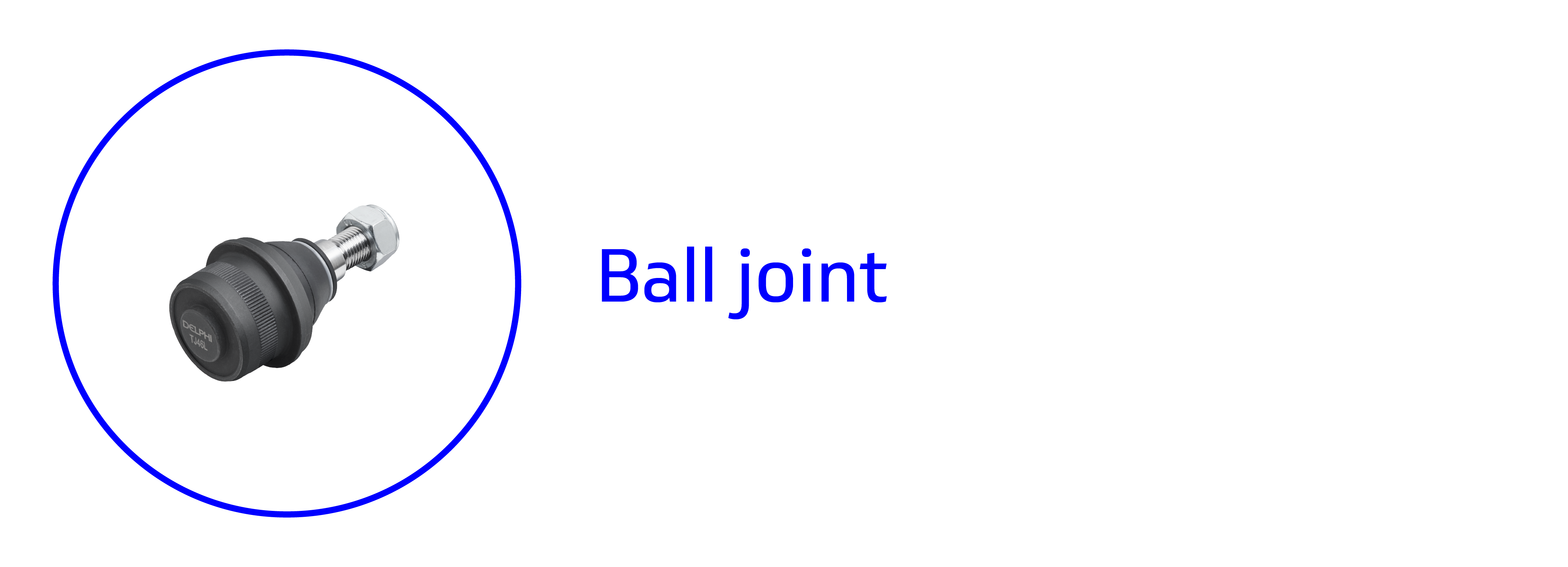 Banner showing a ball joint