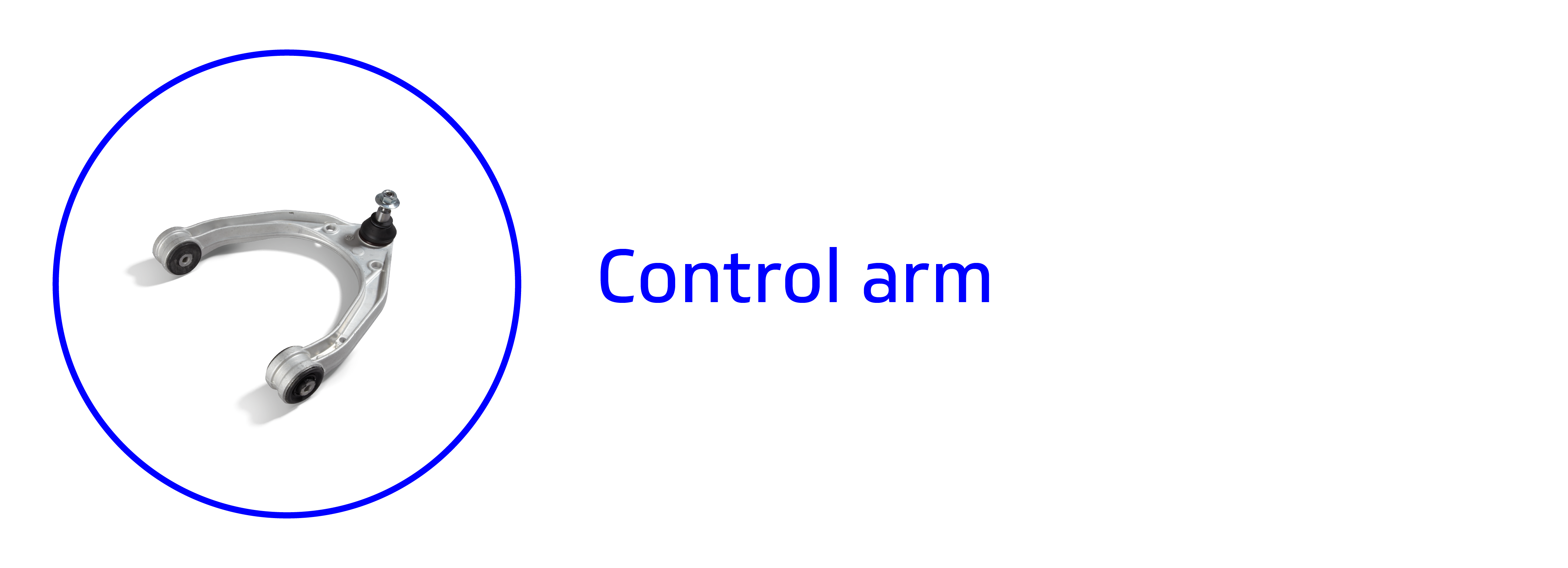 Banner showing a control arm
