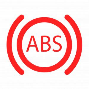 A warning light telling you there is something wrong with ABS system