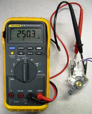 Measuring the ohms on a fuel level sensor with a multimeter