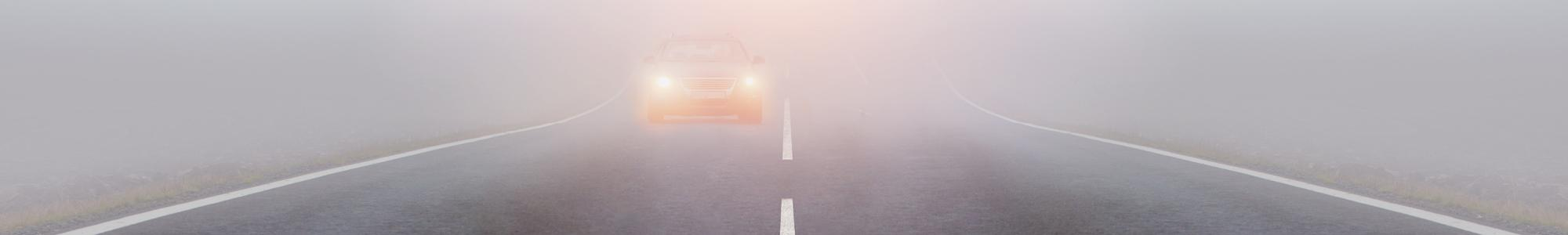 How to drive safely in the fog