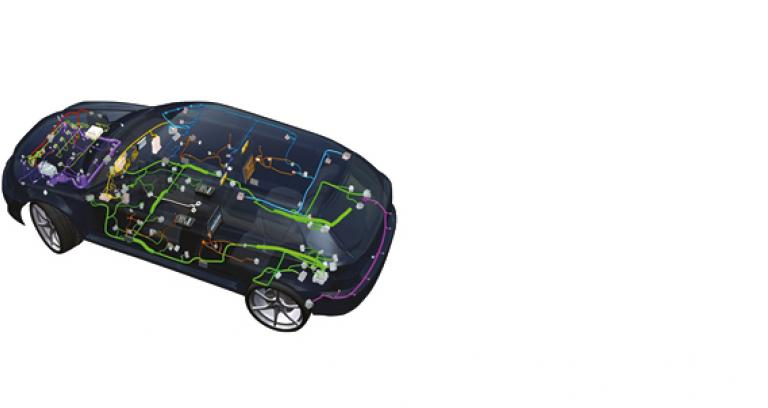 A 3D image picture of a car showing software