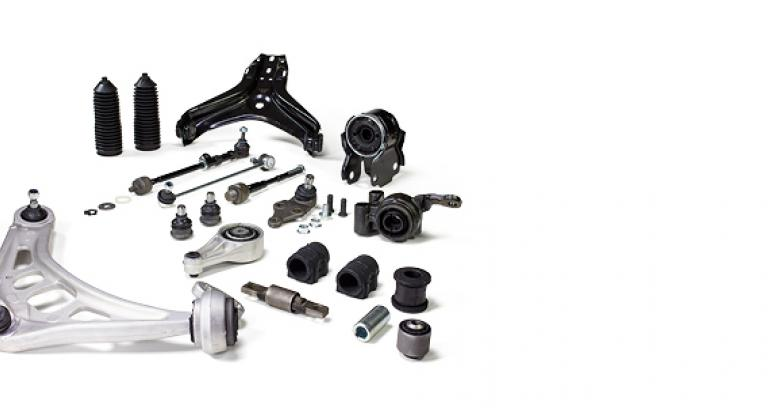 Rubber to metal steering and suspension parts