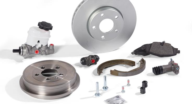 Brake shoes, brake pads, brake discs, brake drums