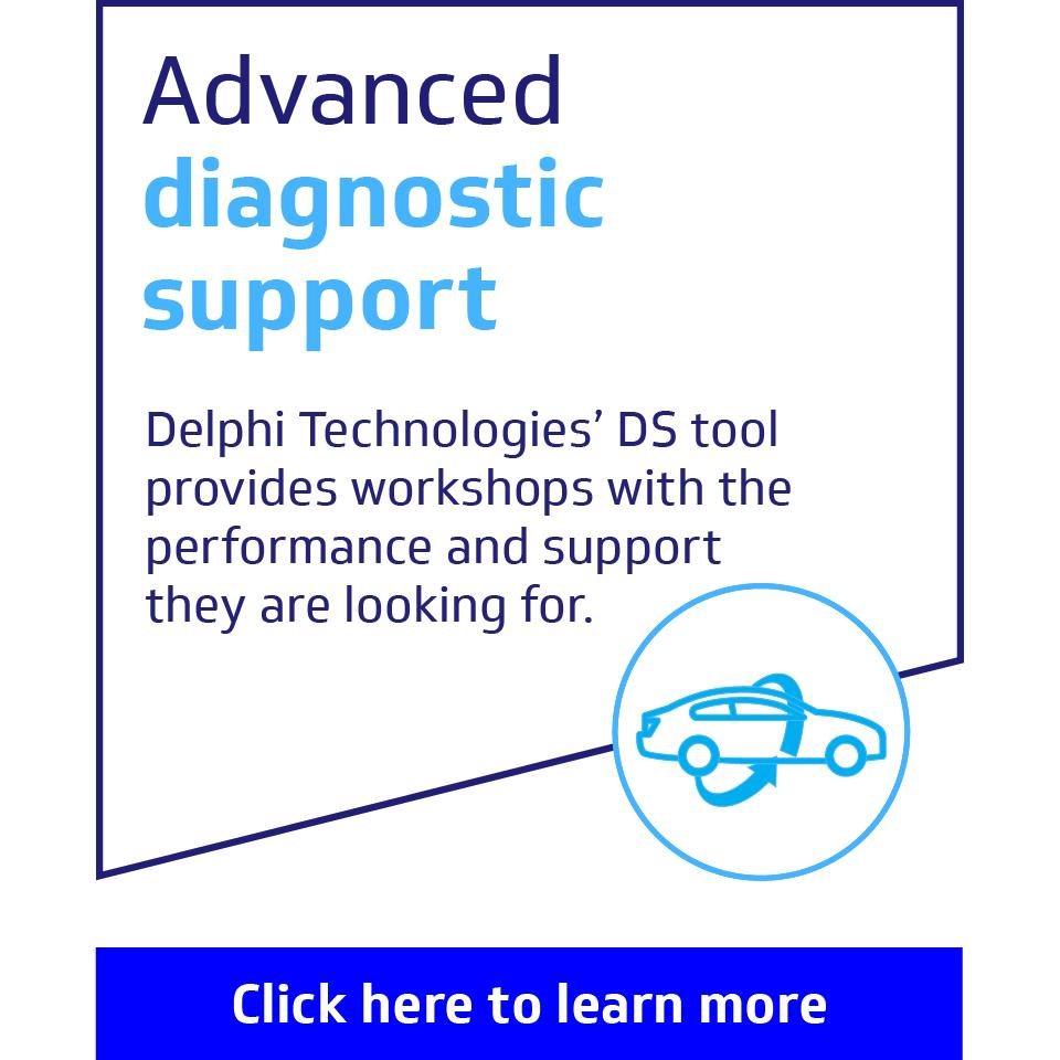 Advanced diagnostic support: Delphi Technologies' DS tool provides workshops with the performance and support they are looking for.